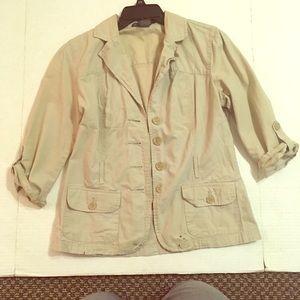 Jackets & Blazers - Tan Jacket FrenchCuff